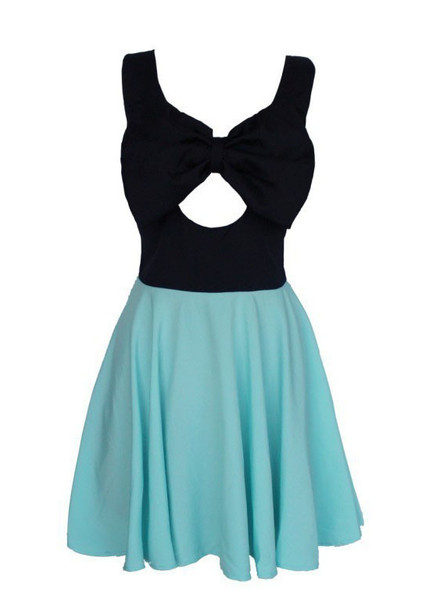 Rella Bow Skater Dress   Outfit Made