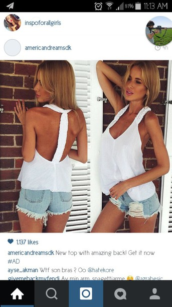 blouse sleeveless top top braided back