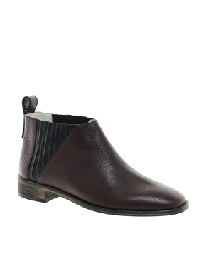 New Kid   New Kid Penny Teaser Burgundy Ankle Boots at ASOS