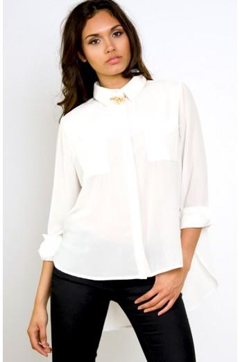It's a Man's World Shirt - MinkPink White Blouse - $78