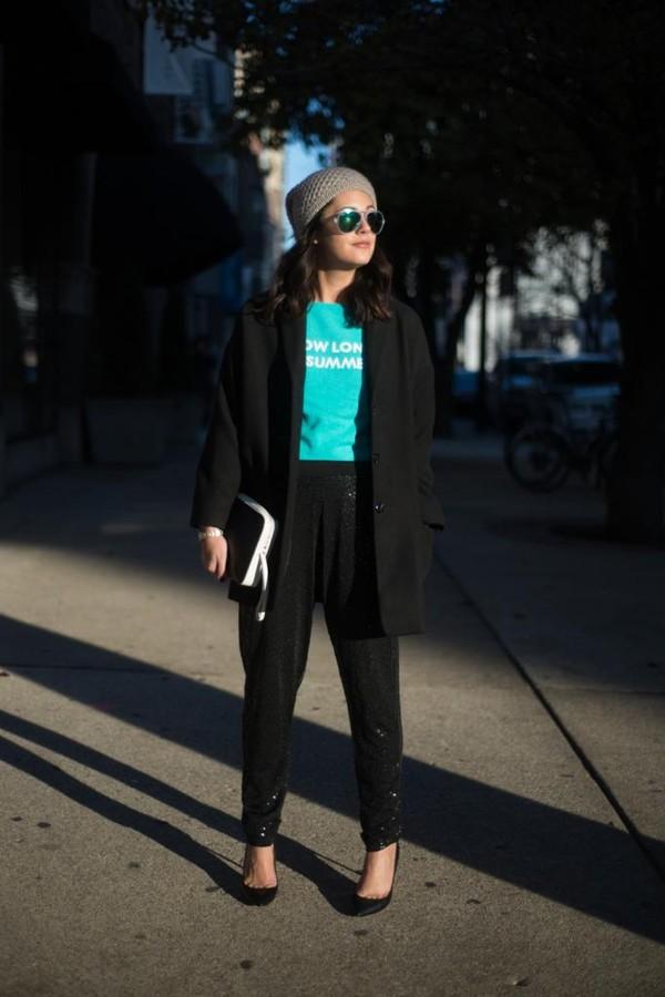 chicityfashion sweater coat pants shoes bag sunglasses hat jewels