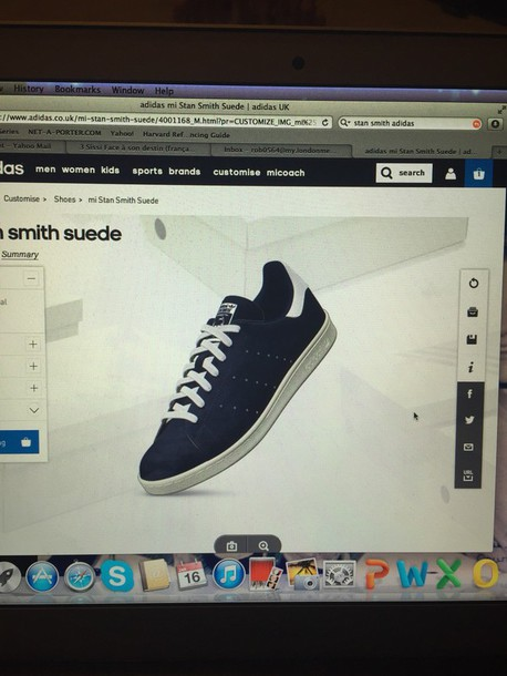shoes adidas style stan smith suede shoes fashion navy dark blue