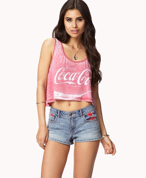 tank top pink coca cola top