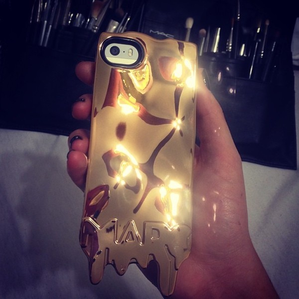 jewels phone cover marc jacobs gold shiny dripping melting