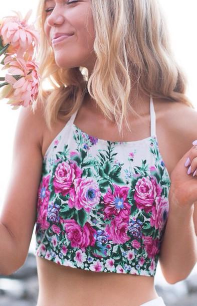 top floral top