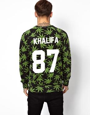 Eleven Paris   Eleven Paris x Les Artists Sweatshirt with Khalifa Back Print at ASOS