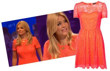 LOOK Topshop Neon Fluro Orange Lace Flippy Dress 6/8/10/12/14/16 BNWT | eBay