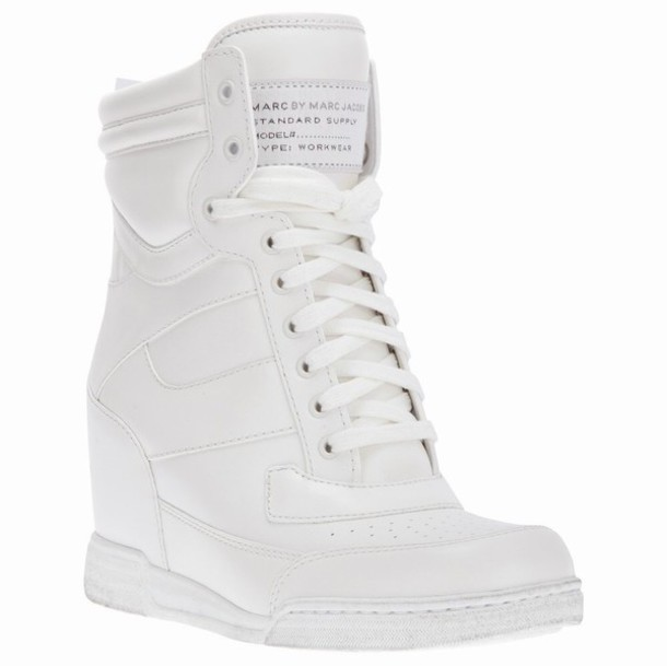 shoes white shoes marc jacobs wedge sneakers sneakers marc by marc jacobs wedges heels high heels