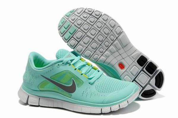 shoes nike free run 3.0 v4 tiffany bleu