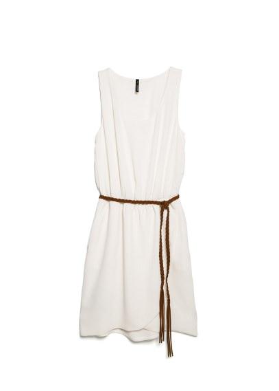 textured wrap dress