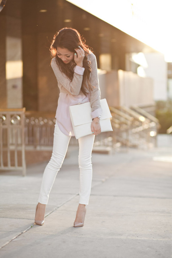 jeans girly pink tumblr girl