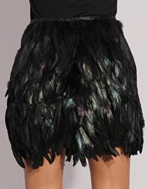Olivia Palermo | ASOS BLACK Feather Skirt at ASOS
