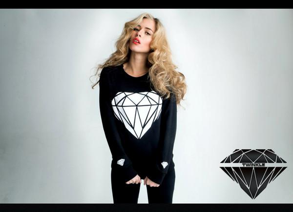 sweater sweatshirt diamonds black trap twinkle shop online