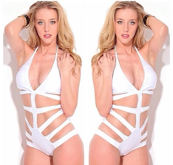 swimwear white one piece