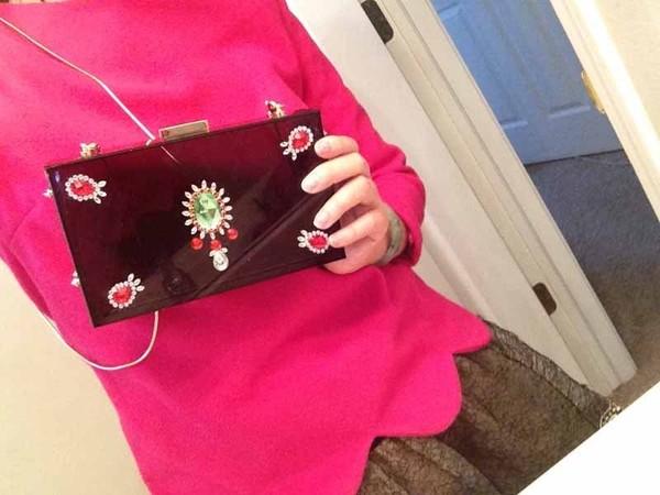 bag crystal handmade clutch transparent bag clear box shoulder handbag purse fashion women ladies brand designer