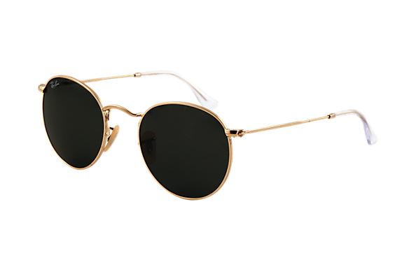 Ray-Ban RB3447 001    50-21 Round Metal  Sunglasses   Ray-Ban USA