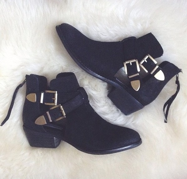shoes steve madden black booties ankle boots
