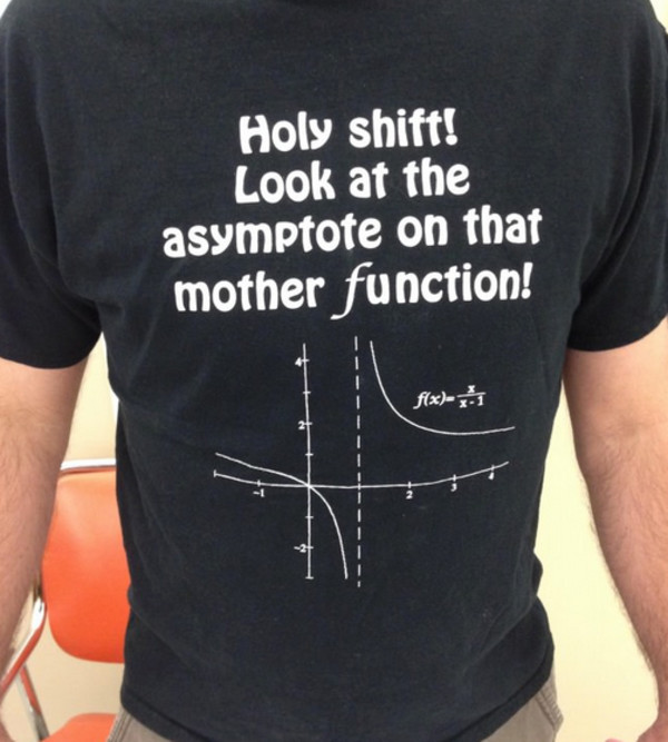 asymptote menswear nerd science mens t-shirt