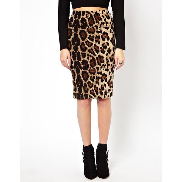 Brave Soul Leopard Print Midi Skirt - Polyvore