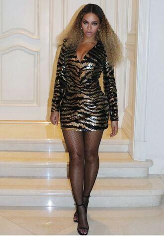 dress animal print zebra print beyonce sequins sequin dress mini dress