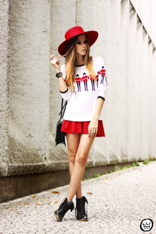 fashion coolture sweater skirt bag hat shoes