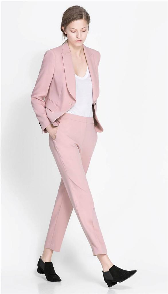 ZARA PINK SUIT BLAZER AND TROUSERS SIZES XS M L XL BNWT | eBay