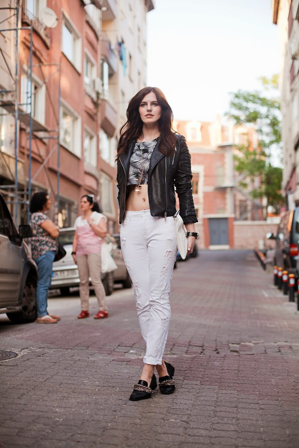 the bow-tie jacket top jeans jewels shoes bag