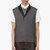 krisvanassche grey wool diamond pinstripe vest