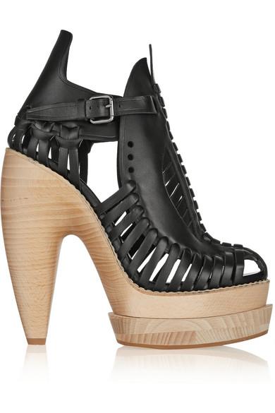 Proenza Schouler|Huarache-style leather ankle boots|NET-A-PORTER.COM