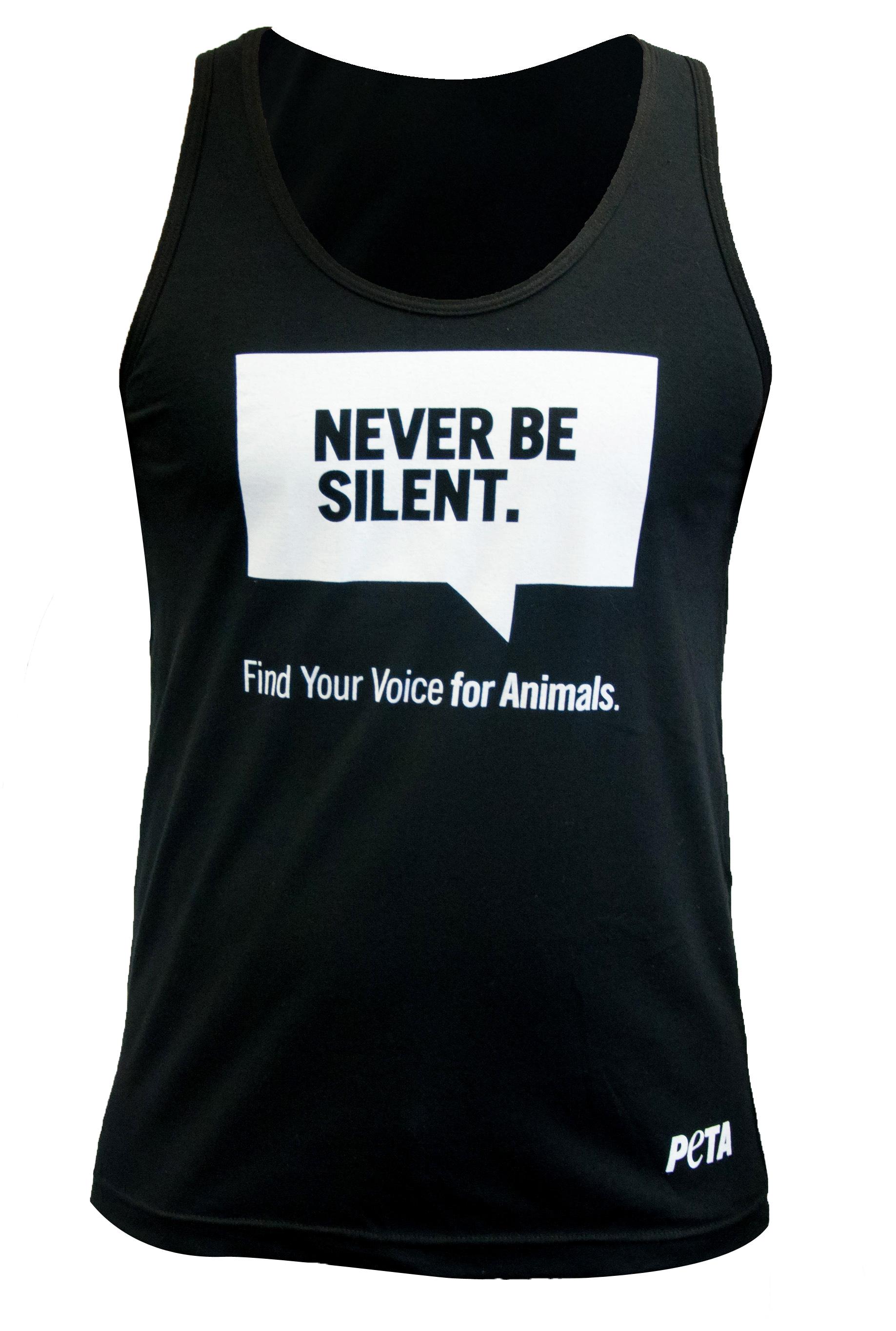 Never Be Silent Tank Top: PETA Catalog