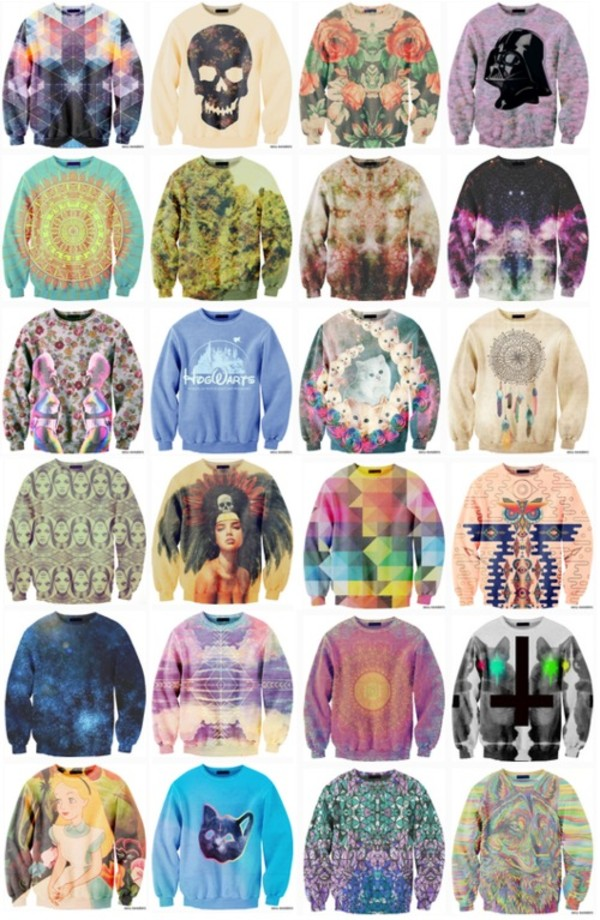 sweater cat sweater indian sweater aztec sweater dream catcher sweater colorful colorful sweater tie tie dye tie dye sweater galaxy sweater sun sweater patterned sweater pattern petterned sun flower cat flowers floral sweater hipster oversized sweater aztec dreamcatcher clothes galaxy print cats graphic tee cool shirts swag
