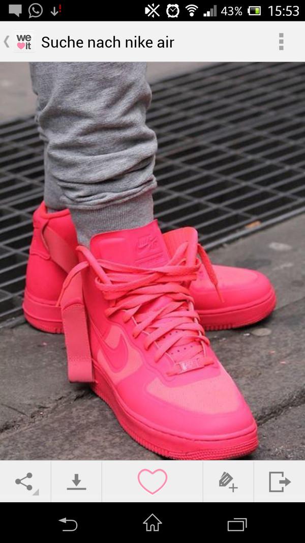 shoes nike air force 1 pink nike sneakers nike pink sneakers