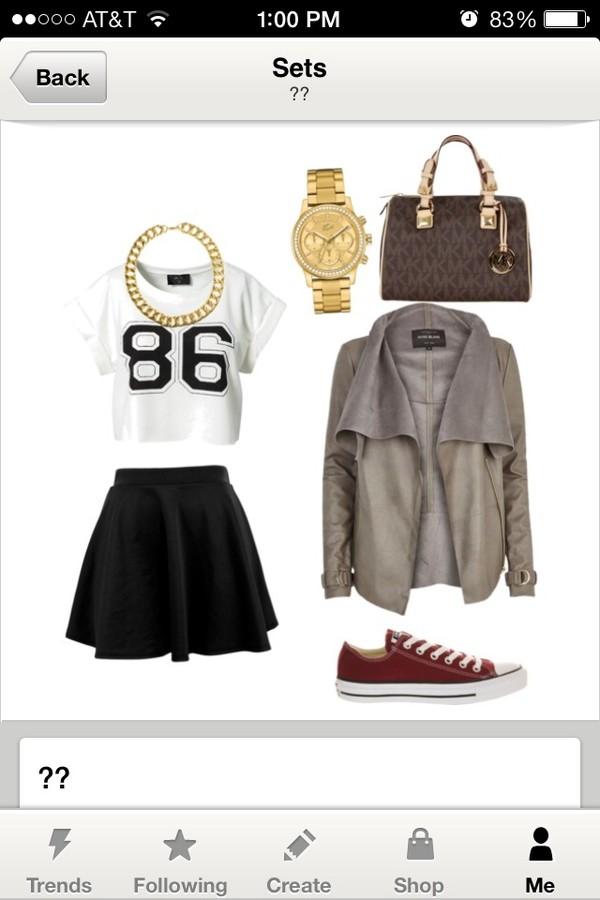 bag michael kors skirt shirt shoes coat jewels
