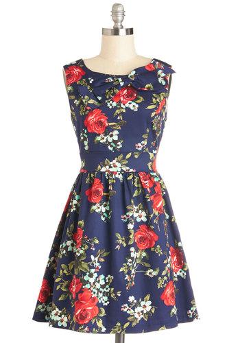 The Pennsylvania Polka Dress in Floral | Mod Retro Vintage Dresses | ModCloth.com