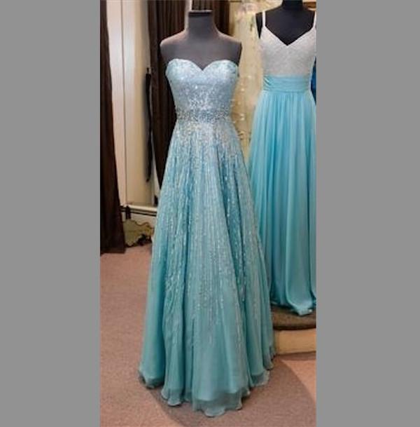 dress blue prom dress frozen blouse elsa gown long sleeveless