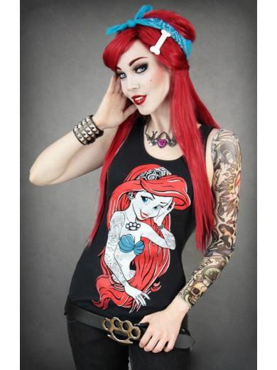 Disney Restyle Rebel Ariel Mermaid Singlet Tank Tee Top
