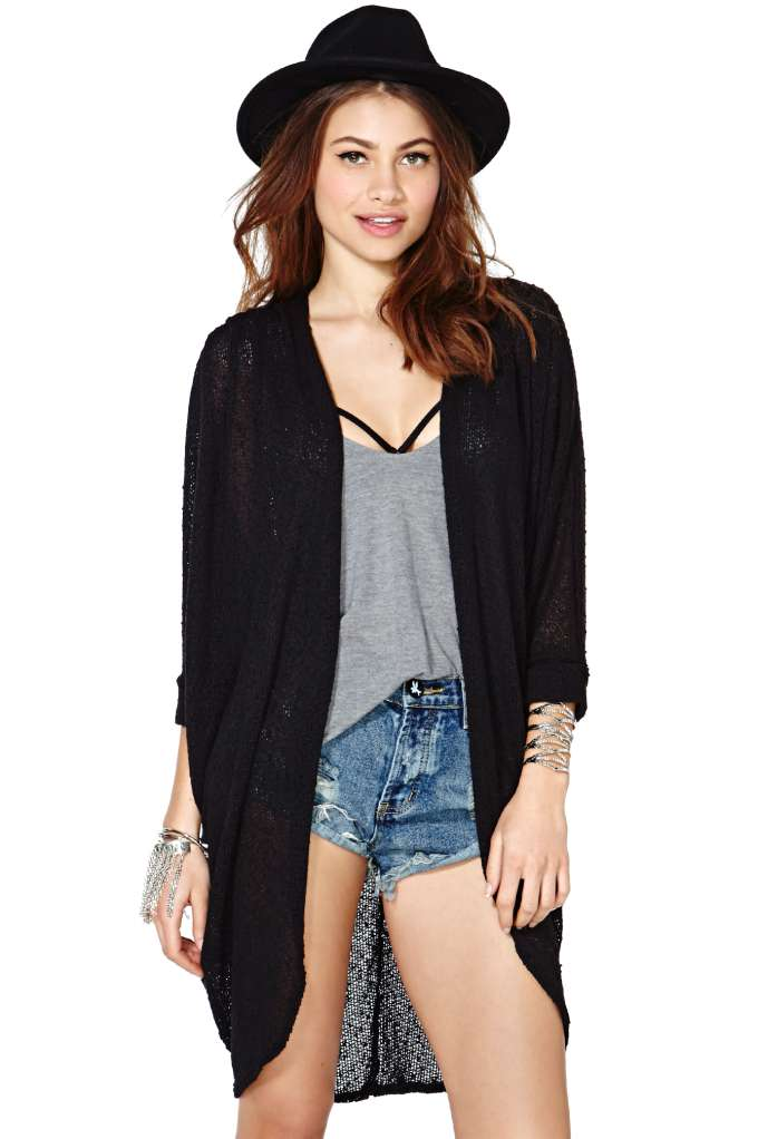 Comfort Zone Cardi - Black | Shop Tops at Nasty Gal