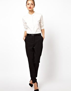 ASOS | ASOS Tux Trousers in Luxe Fabric at ASOS