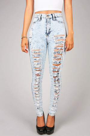 Acid Wreck High Waist Skinny Jeans - DivergentClosets