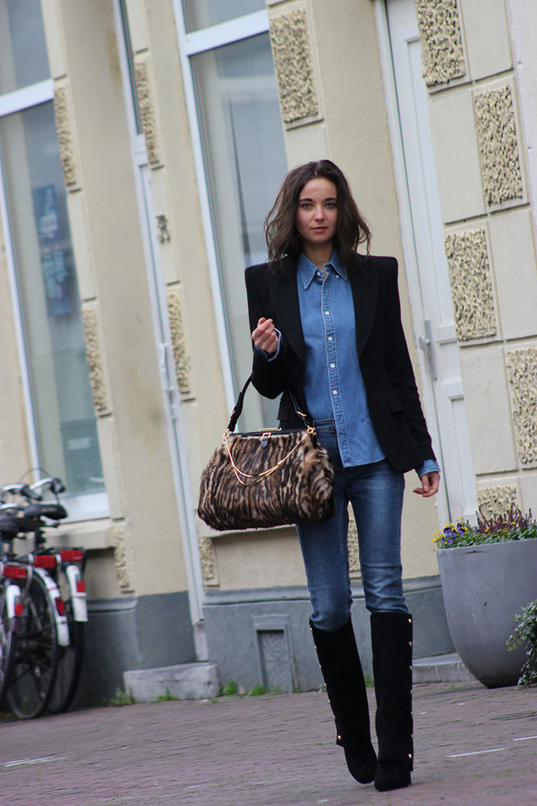 mode d'amour jacket blouse jeans shoes bag