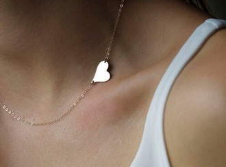 jewels necklace gold necklace heart jewelry small necklace
