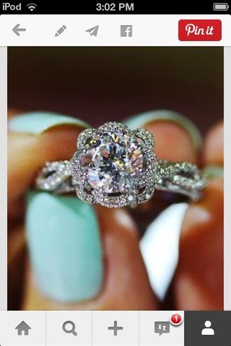 jewels ring engagement ring diamonds