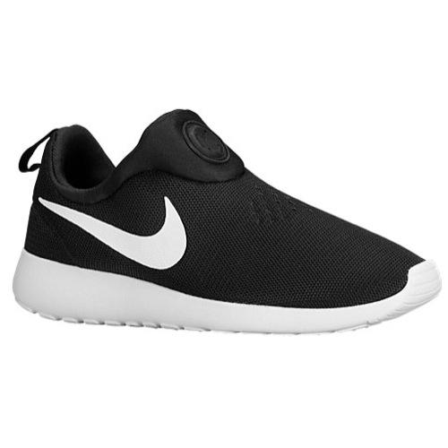 Nike Roshe Run Slip On - Men's - Running - Shoes - Black/White/White