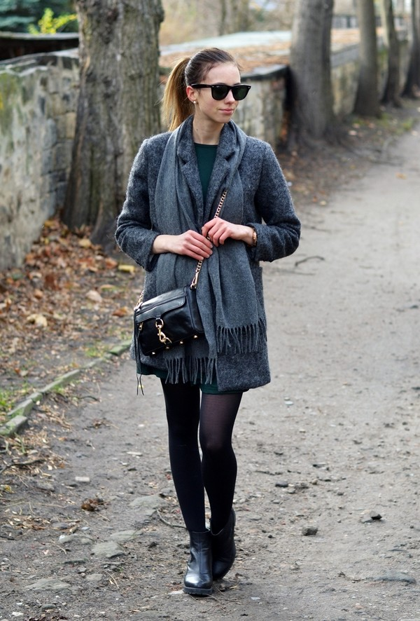 vogue haus coat dress shoes bag scarf jewels sunglasses