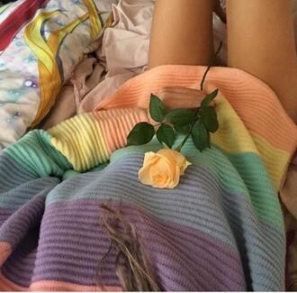sweater rainbow colorful stripes stripey oversized sweater oversized