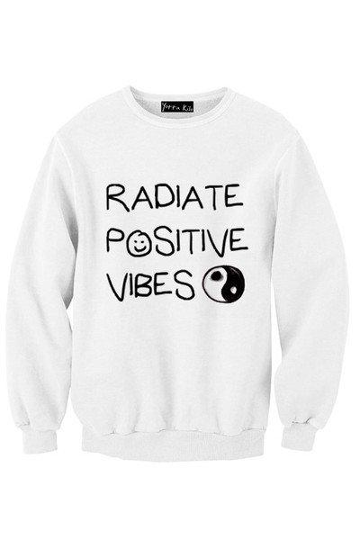 Radiate Positive Vibes Sweatshirt | Yotta Kilo on Wanelo