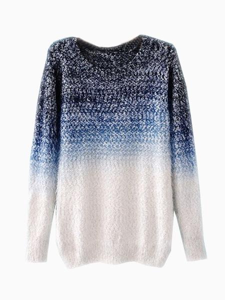 Tie-Dyeing Vintage Sweater In Blue   Choies
