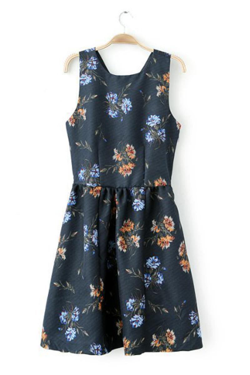 2014 Spring & Summer New Section Ladies Printed Sexy Pleated Dress,Cheap in Wendybox.com