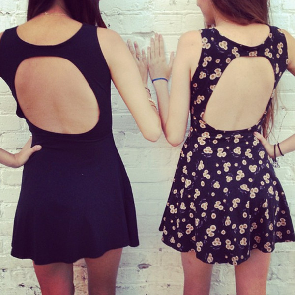 dress black cut-out dress floral dress little black dress floral