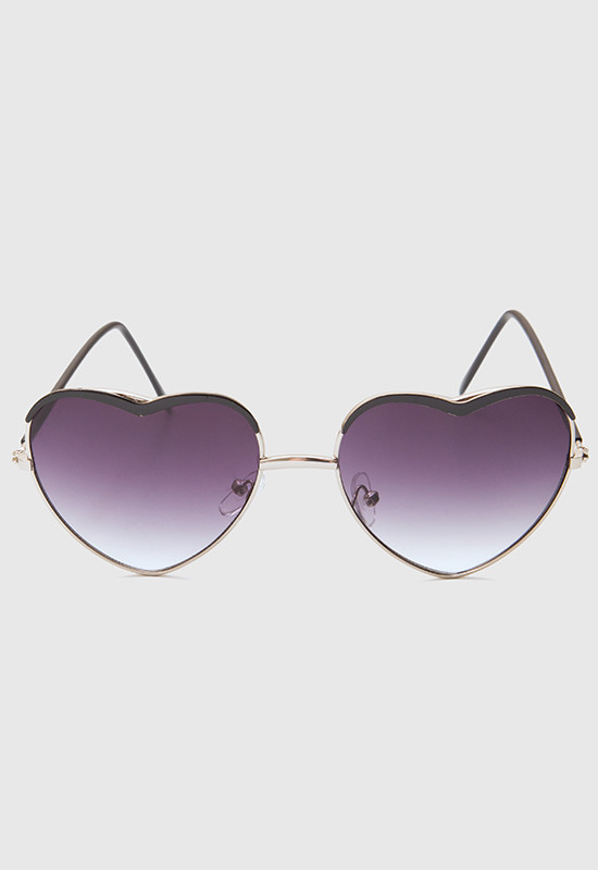 Teri Heart Sunglasses - Black